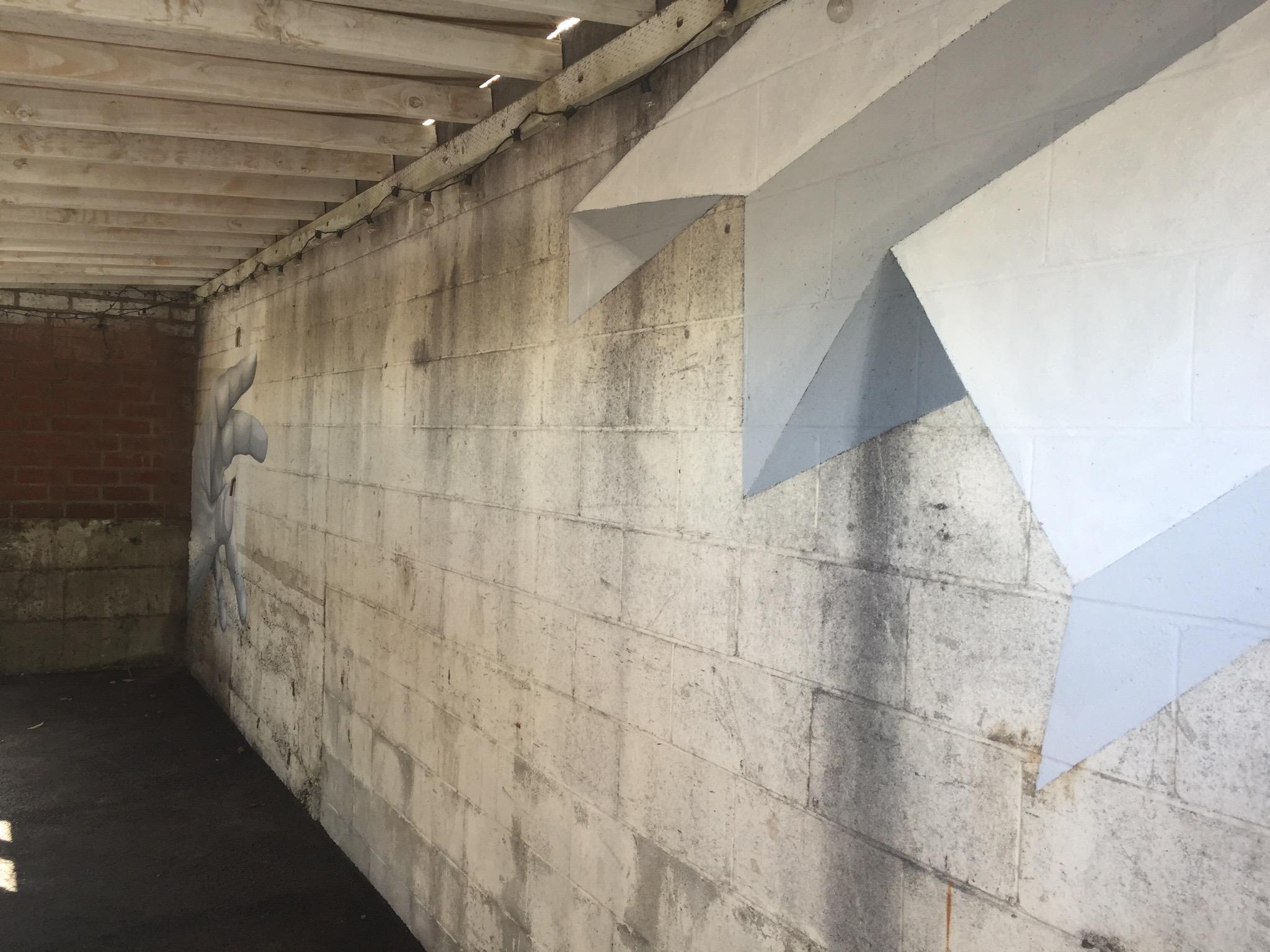 Mural - Bizhaus (parking lot wall)