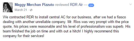 Customer service RDR air