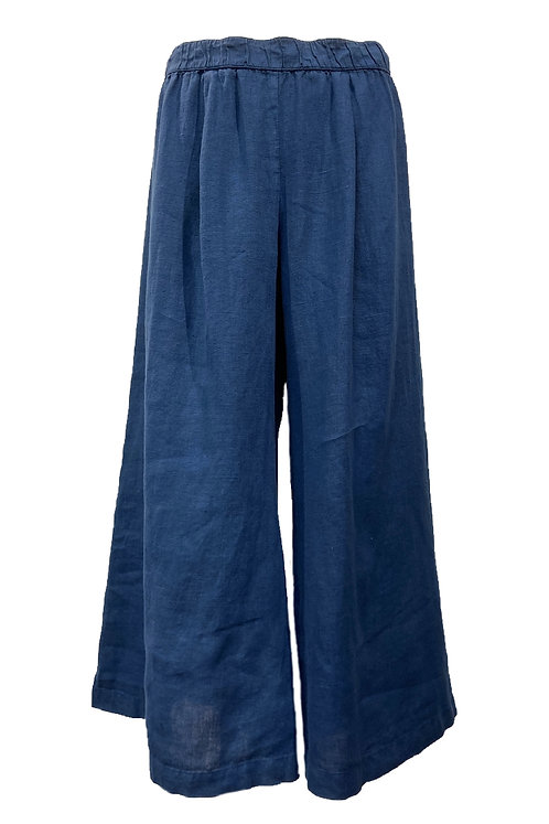 Wide Leg Capri Pants (L648)