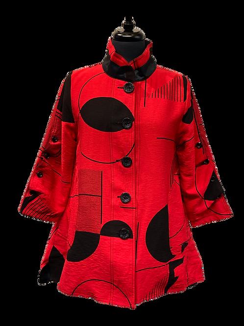 Oopera Reversible ¾ Ruche Sleeve Jacket