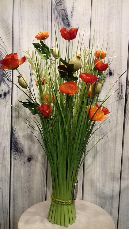 Poppy Orange Artificial Flowers & Grasses