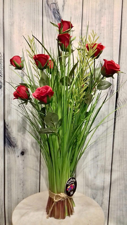 Rose Red Artificial Flowers & Grasses