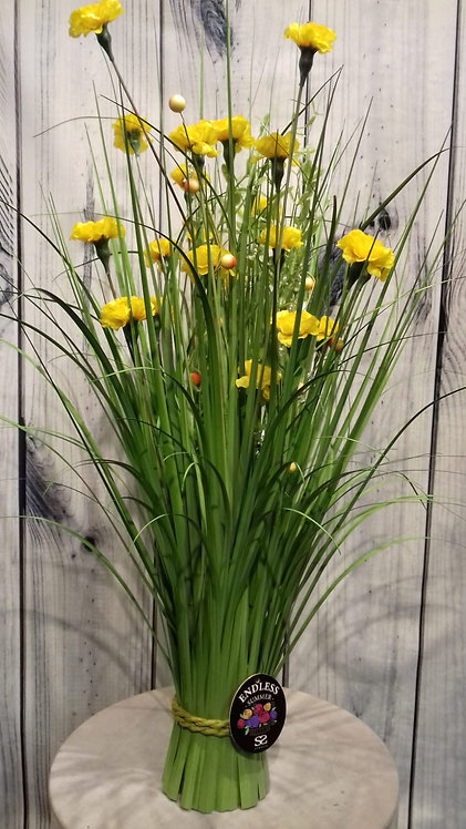 Carnation Yellow Artificial Flowers & Grasses