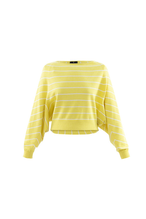Striped Boat Neck Sweater (6100)