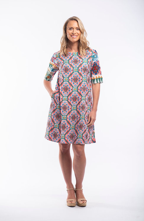 Santiago Short Sleeve Dress (81109)