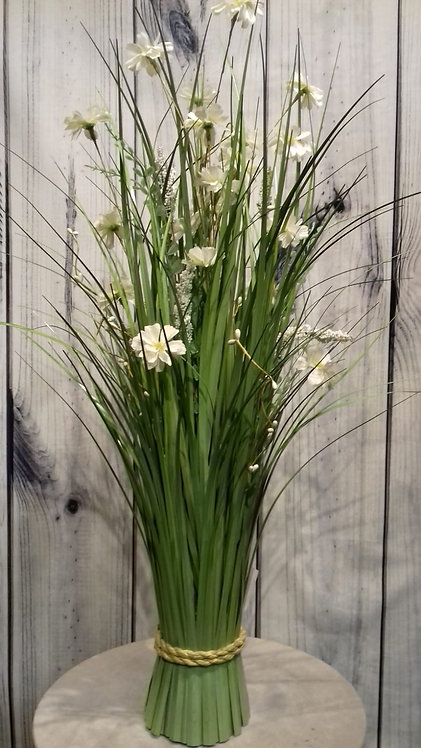 White Artificial Flowers & Grasses
