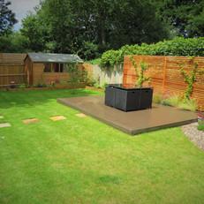 modern woodland garden
