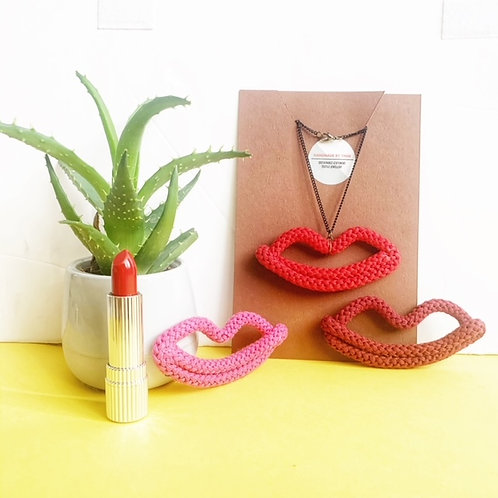 The Lulu Lips Necklace Pendant
