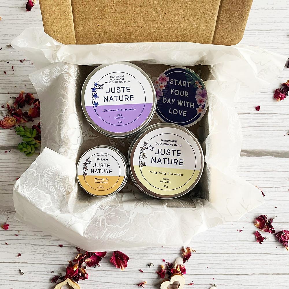 All natural skincare Christmas gift set