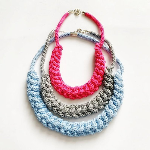 The Lindsey Handmade Knitted Rope Necklace