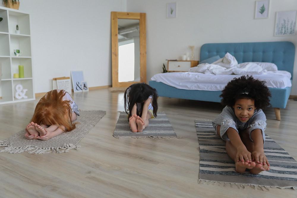 Lockdown kids yoga