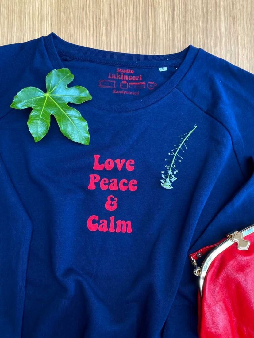 eco-friendly Christmas jumper gift made from sustainable materials and water-based ink printing