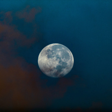 morning moon by home build refractor