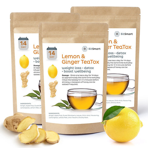 Lemon & Ginger Detox Tea - 14 Day Weight Loss Teabags
