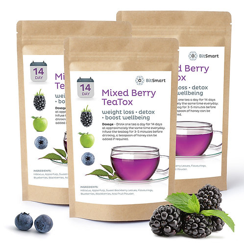 Mixed Berry Detox Tea - 14 Day Weight Loss Teabags