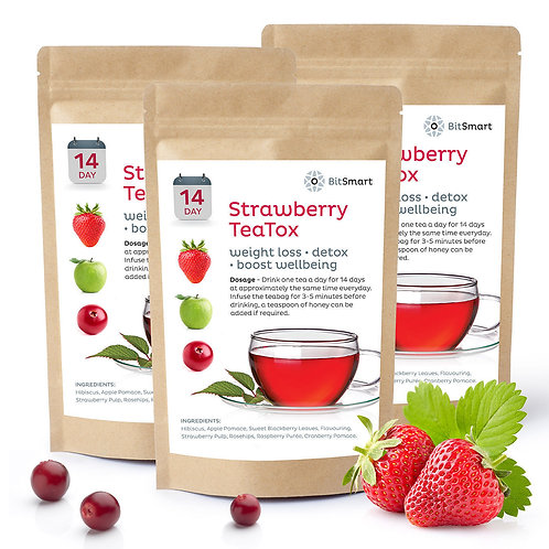 Strawberry Detox Tea - 14 Day Weight Loss Teabags