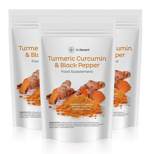 Turmeric & Black Pepper Tablets (60 Tablets)
