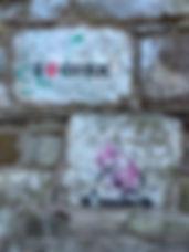 stencilled street art in cork city
