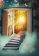 Upstairs to the magic book land.jpg