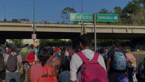 Una nueva caravana con cerca de 6,000 migrantes parte de Chiapas a la CDMX