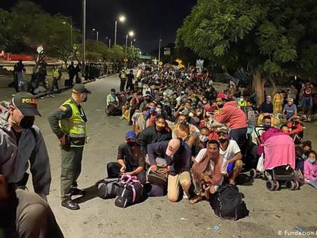 Huyeron del hambre en Venezuela, y la pandemia fuerza su retorno.