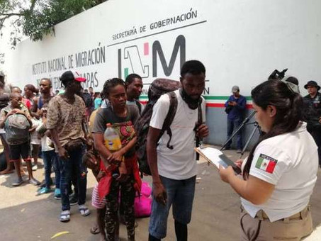 Miles de haitianos llegan al sur de México en los últimos días