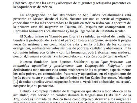 Plan de Caridad Megamisión CDMX 2021   Arquidiócesis Primada de México