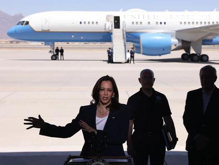 Kamala Harris visita la frontera con México para desactivar las críticas de los republicanos