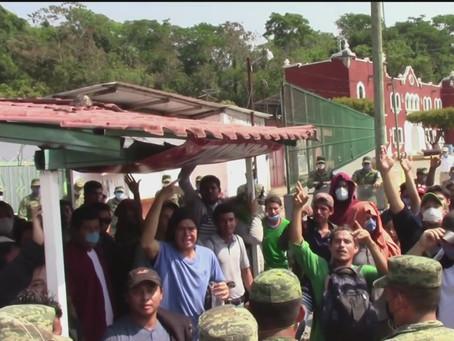 Abandonan a migrantes detenidos en los límites de la frontera sur
