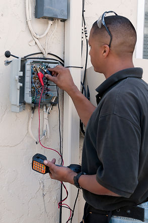 Service Electrician doing electrical repairs and maintenance