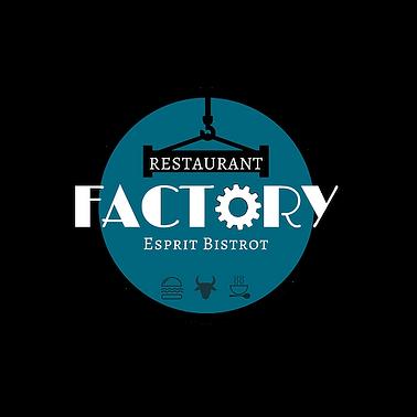 Logo FACTORY Restaurant fond transparent