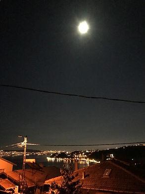 Beyz Yakadan Karadeliğe eve dönünce İstanbul manzarası