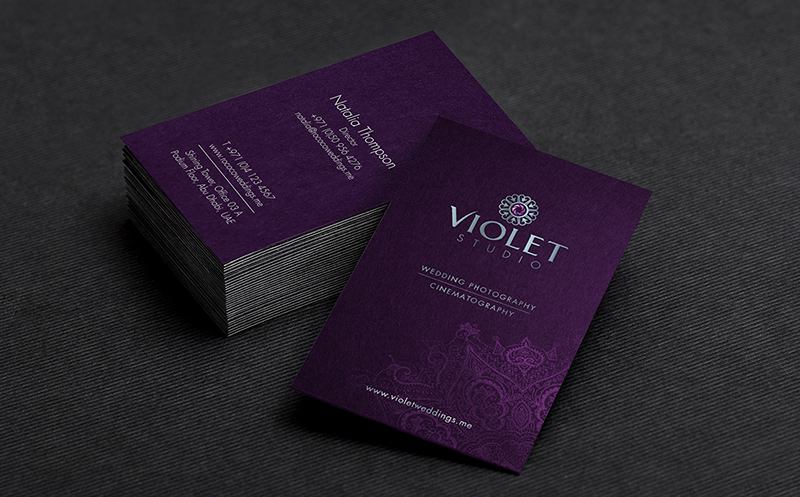 violet studios_business card mock up