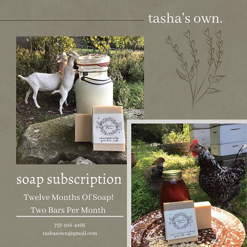One Year Soap Subscription Via Post