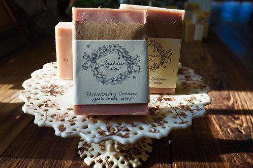 Strawberry Cream Goat's Milk Soap