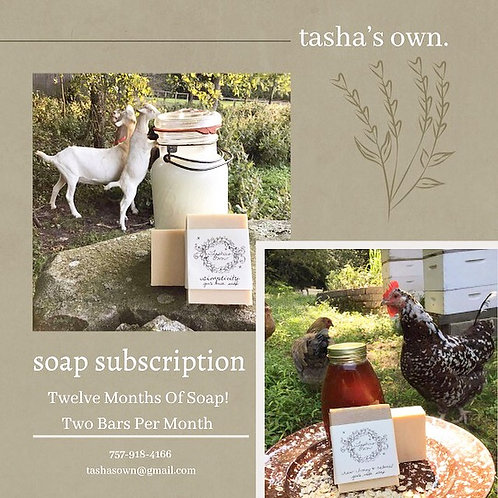 One Year Soap Subscription Pick Up at Farm