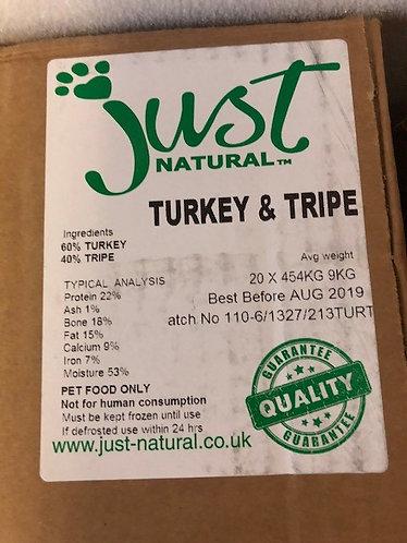 Just Natural Turkey & Tripe 20 x 454g bags