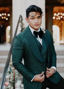 Matt Mercurio in a Green Tux