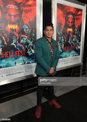 Matt Mercurio attends the 'Hell Fest' premiere, September 2018