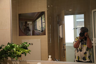 Jens Bathroom Self Portrait photographed by Lea - Jens photographs - Gaffa Gallery