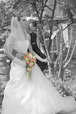 Mariage Nîmes N/B couleur 1