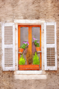 une fenêtre au soleil