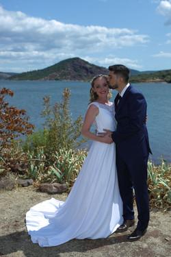 Mariage lac du Salagou 2