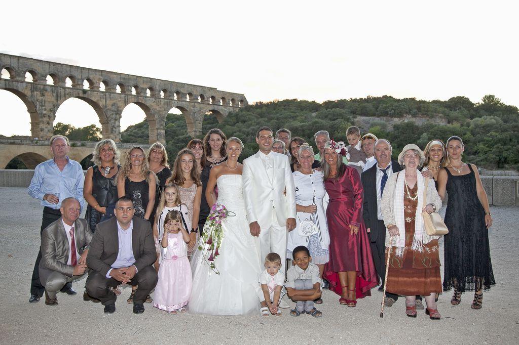 Mariage pont du Gard 1