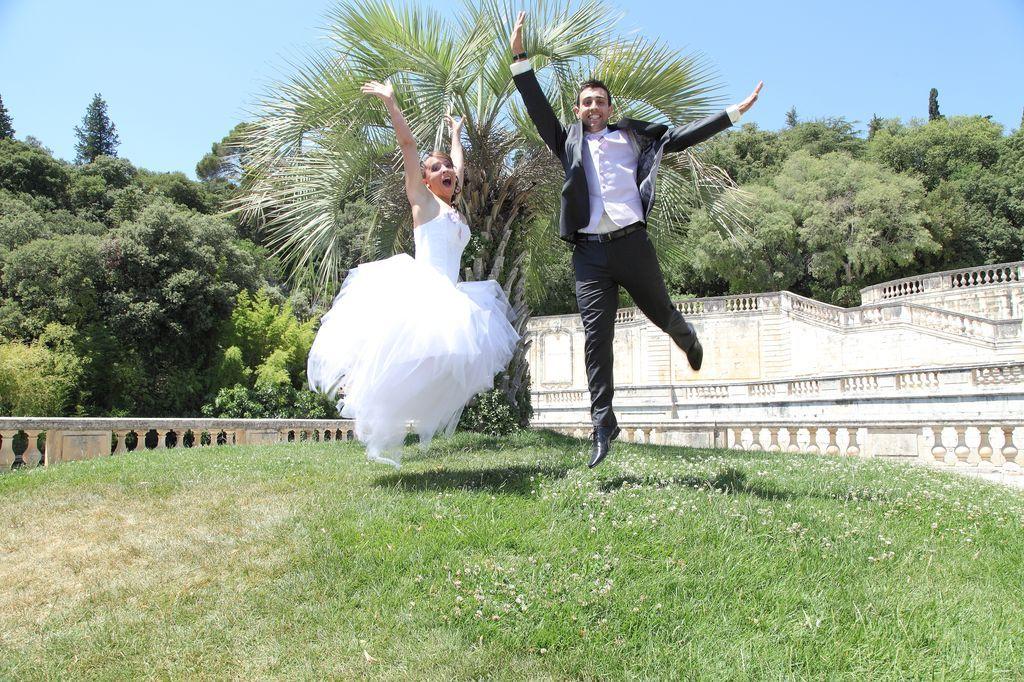 Mariage Jardin  la Fontaine Nîmes 1