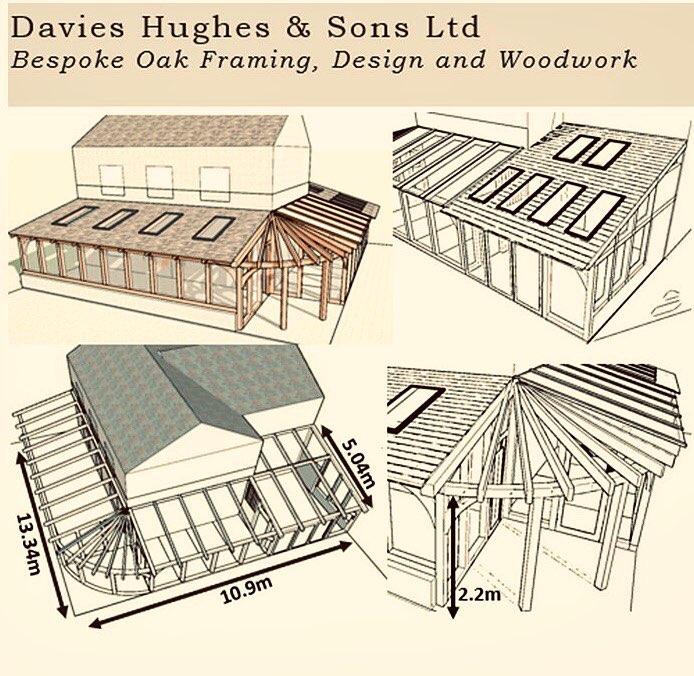 Oak framed conservatory design