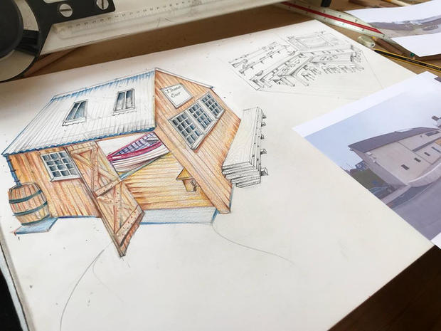 Traditional Boat Shed Design for the local National Trust