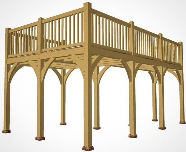 A recent bespoke oak balcony and balustrading design.
