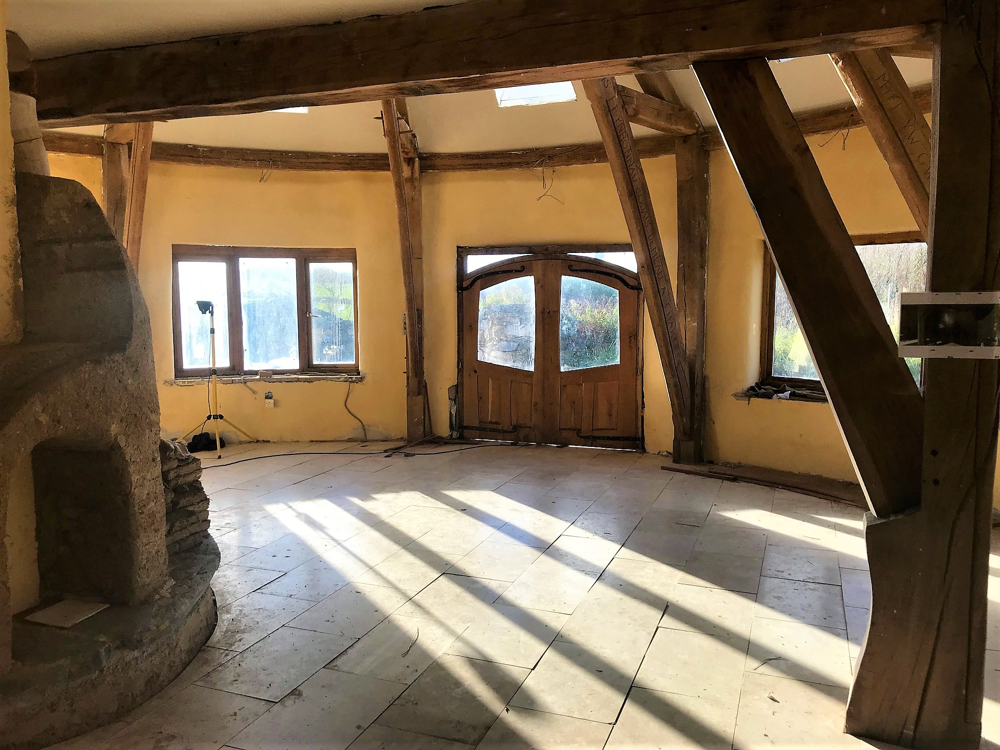 Oak framed building interior