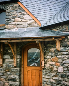 Bespoke canopy porch for a client in Snowdonia